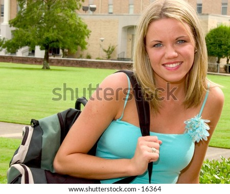 Girl at school - stock photo