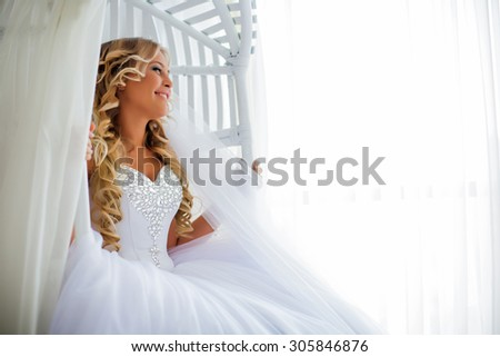 girl bride fashion  - stock photo