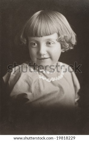 Girl Child Antique Photograph - stock photo