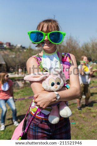 Girl child at the party Role - stock photo