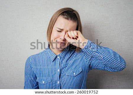 girl crying - stock photo