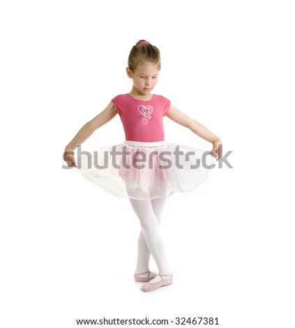 girl dancing ballet - stock photo