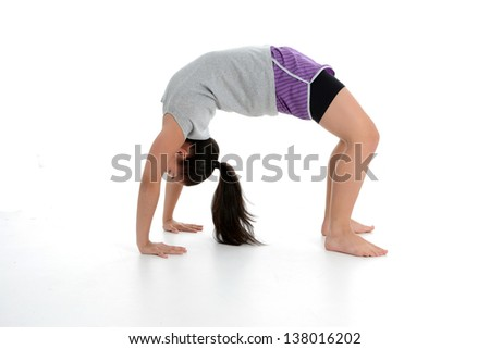 Girl Doing Yoga Pose in a Studio