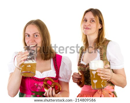 Girl drinking too much beer - stock photo