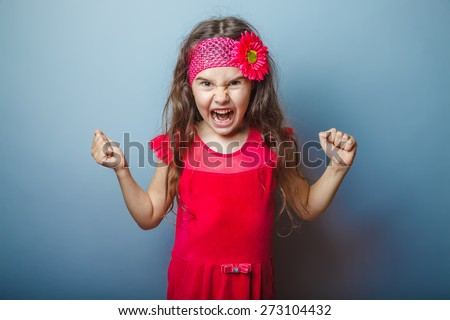 Anger management girl in red dress
