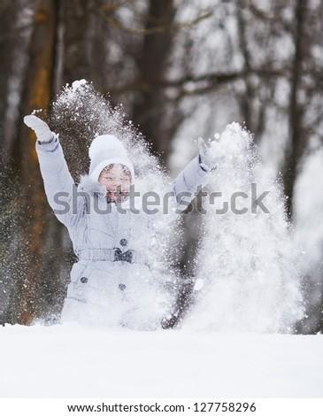 Girl expressing - stock photo
