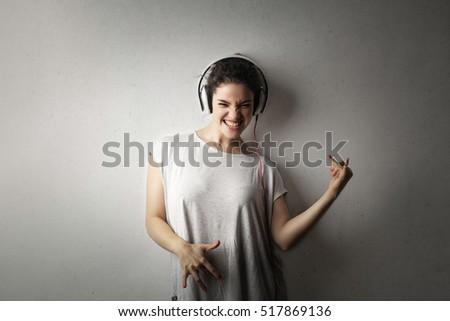 girl getting lost in the music