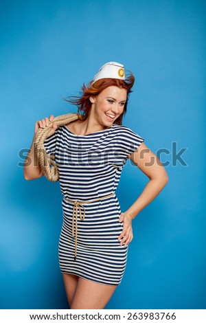 girl in a vest - stock photo
