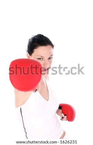 girl in action - stock photo