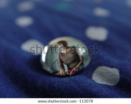 girl in bead - stock photo