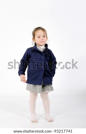 Girl in blue jacket - stock photo