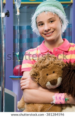 Girl in hospital - stock photo