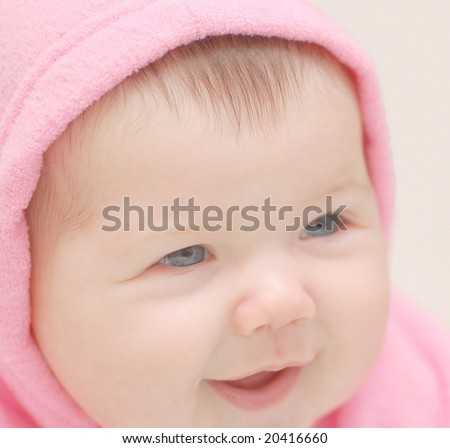Girl in rose hood - stock photo
