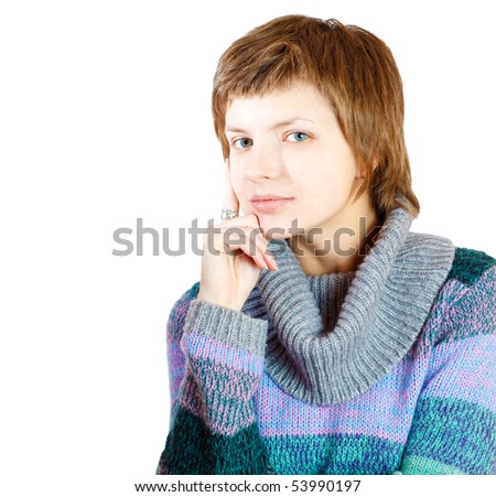 girl in sweater
