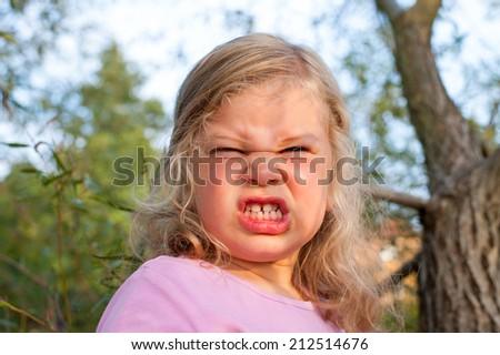 girl is angry  - stock photo