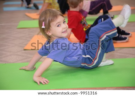 girl is engaged in gymnastics 3 - stock photo