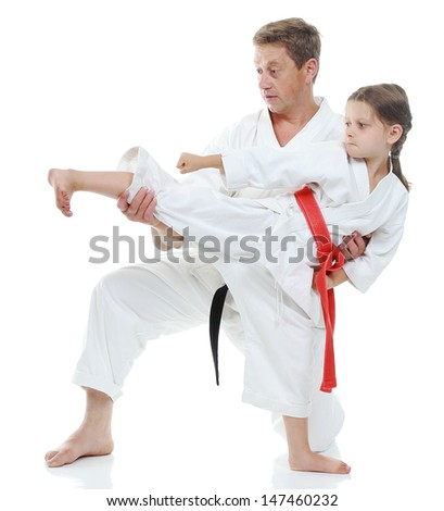 karate woman beats man Girl learns to beat kickKarate Woman Beats Man