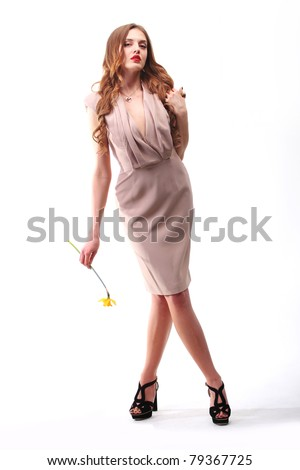 girl mannequin with narcissistic - stock photo