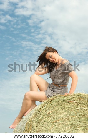 girl on campaign - stock photo