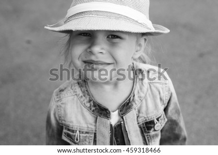 girl on grey background