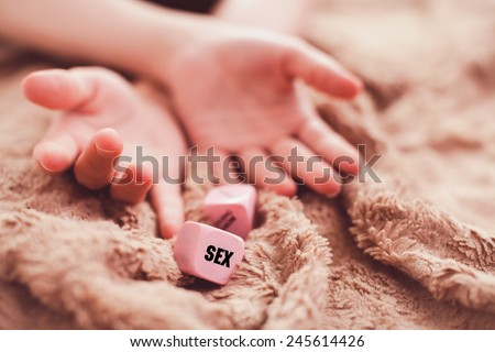 girl's hands during sex - stock photo
