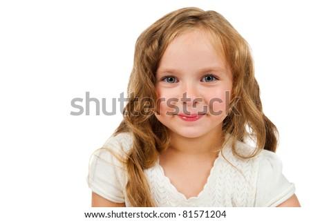 girl smiles - stock photo
