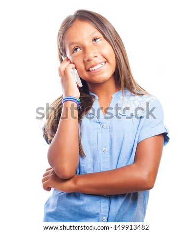 Cheerful Blue Girl Preteen Stock Photos, Illustrations, and Vector Art