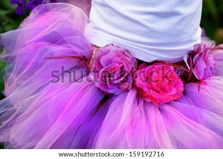 Girl wearing a ballet tutu. - stock photo