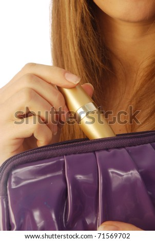 Girl with a clutch 006 - stock photo