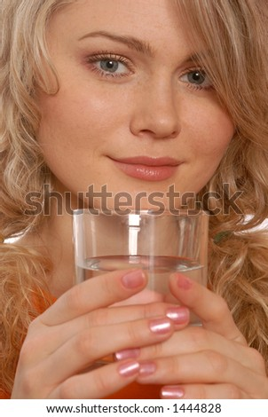 girl with a glass of water