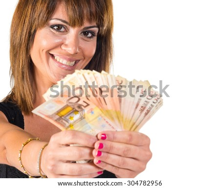 Girl with a lot of money