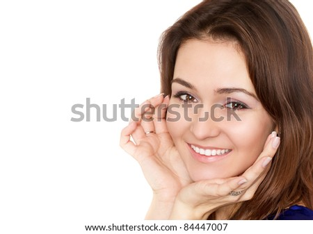 Girl with a perfect smile - stock photo