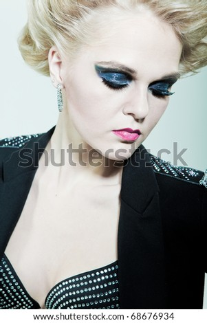 Girl with beautiful eyes - stock photo