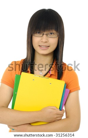 girl with book - stock photo