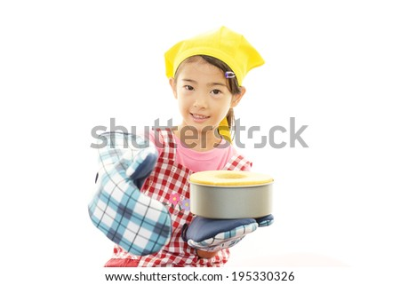 Girl with bread - stock photo