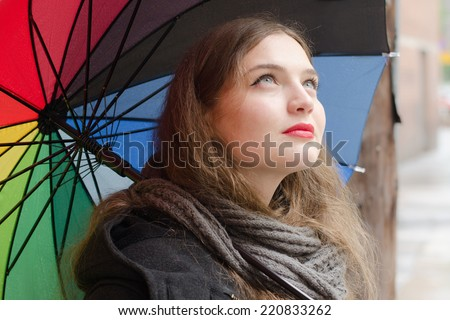 Girl with color palette umbrella