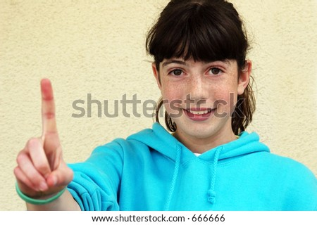 Girl with freckles - stock photo
