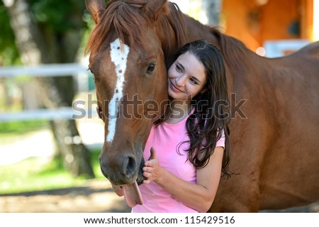 Girl with Horse