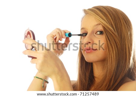 Girl with mascara 016 - stock photo