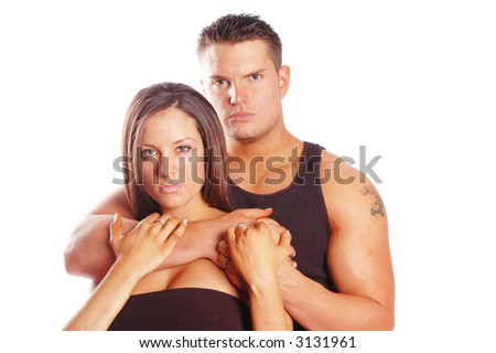 Wife posing for boyfriend