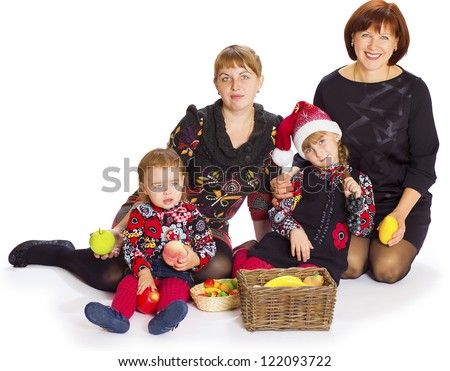 girlfriends and their children in studio before new year