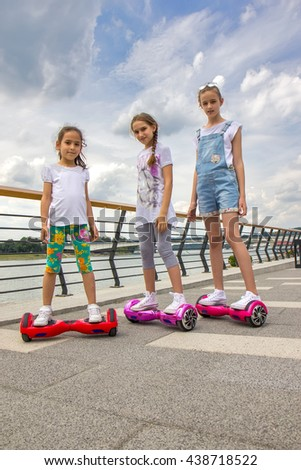 Girls on the hoverboard