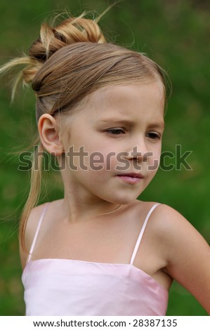 Girls' portrait - stock photo