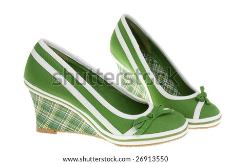 Girls' shoes isolated on a white background.