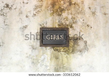 Bathroom Sign Texture mens public toilet sign on dirty stock photo 103838246 - shutterstock
