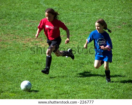 Girls Soccer - stock photo