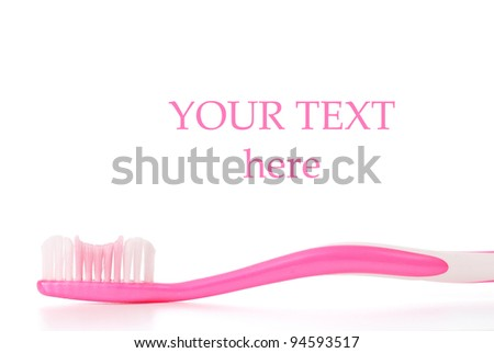 Girls Toothbrush with Space for Custom Text - stock photo