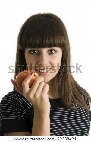 girls with apple