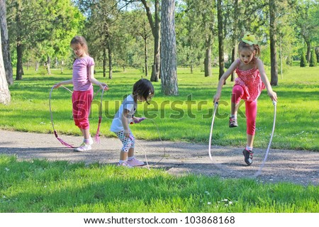 Girls with skipping rope