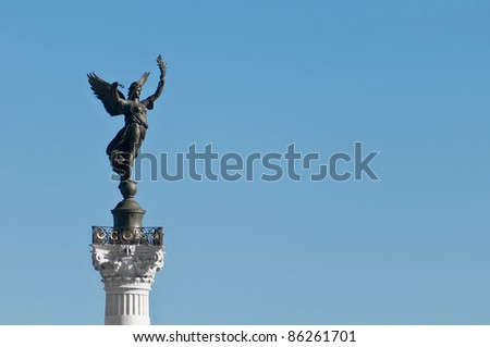 Girondins monument located at Bordeaux, France - stock photo